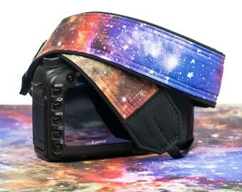 Camera Strap, Cosmos, Galaxy, Stars, dSLR, SLR, Pocket, Canon strap, Nikon strap, Neck strap, Universal camera strap,  300