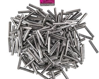 500pcs.  38mm or 1  1/2 inch - Gunmetal No Loop Ribbon Clamp End Crimps - Artisan Series