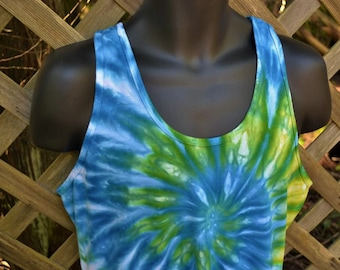 Everglade - Tie Dye Tank, Tie-Dye Tank Top, Tie Dye Clothing, Tie Dyed Clothes, Hippie Clothing, Hippy Clothes,