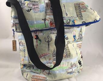 Young Women in Paris Print Sack Bag