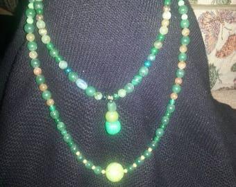 Handmade OOAK #11 beaded necklace