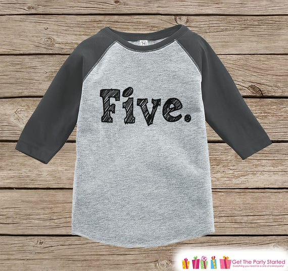 Five Year Old Birthday Shirt