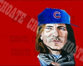 Eddie Vedder, Chicago Cubs Art Photo Print