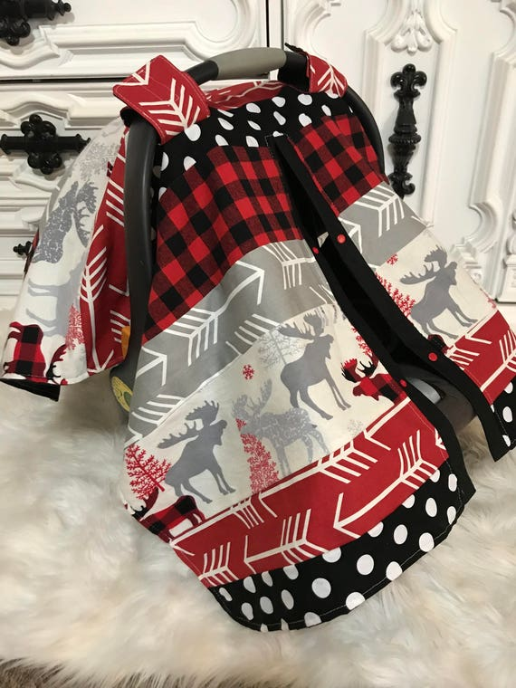 Car seat cover , Arrow and buffalo plaid , Car seat cover , car seat canopy , carseat cover , carseat canopy , nursing cover