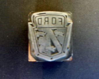 Ford Logo Printer's Cut Advertising Wood Block Woodblock Printing Press Heraldic Crest Lion
