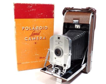 Polaroid Land Camera Model 95 Vintage 1940s 1950s Instant Photo Camera in Original Box