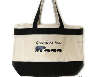 Grandma Bear Tote Gifts for Grandma Gifts Grandma Bear Gift For Mother's Day Gift Tote Wife Birthday For Grandma