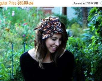 CIJ SALE Show Stopping Copper Sequin Hairpiece/Headband