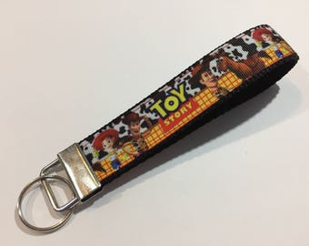 Toy Story with Woody, Jesse and Bullseye Key Fob Keychain wristlet