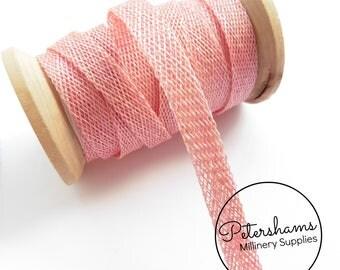 1cm Sinamay Bias Binding Tape Strip (1.6m/1.7yards) for Millinery & Hat Making - Light Pink