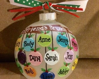 13-15 personalized, handpainted names