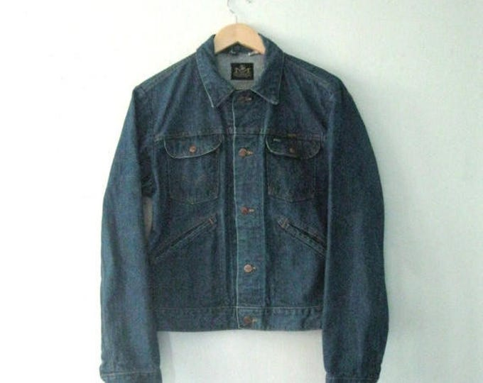 WINTER SALE Vintage 60s Maverick jean jacket / Unisex denim Boho Hipster jacket