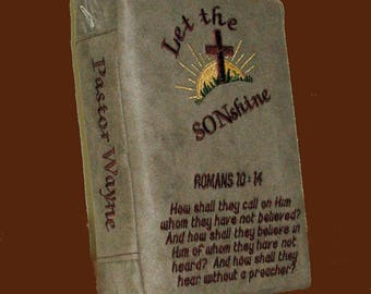 Custom Bible cover, Book cover, Embroidered Bible Cover, personalized, Bible covers, Religious cover, for men, book accessories