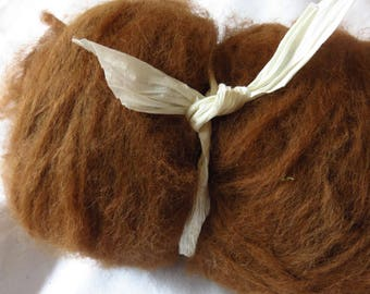 Plain Chocolate Alpaca - Carded spinning batt