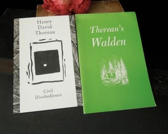Thoreau's Walden by James Thorpe and Civil Disobedience by Henry David Thoreau - Brochures Pamphlets - Literary Gift