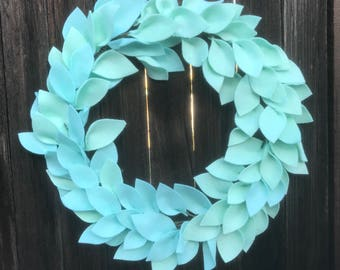 Light turquoise wreath-18""