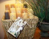 Candles, LARGE Set of 2, Beeswax Candle, Beeswax, Tapered Candle, Candle, Beeswax, Wedding Candle, Weddings