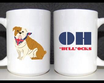 Bulldog 15 oz Mug, Funny Mug, Dog Coffee Mug, English Bulldog Mug, Cute Mug, 2 sided mug