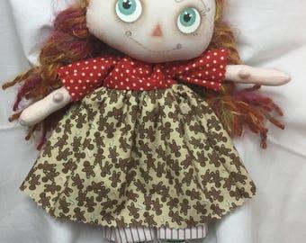 Cloth Doll - Handmade - Art Doll
