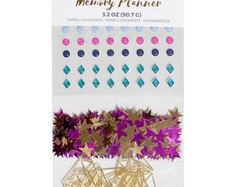 Marble Crush American Crafts Memory Planner Assorted Embellishments (375048)