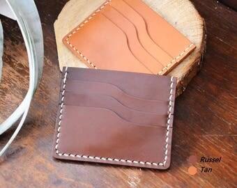 Ho-Ho-Sew Genuine Leather 4-Slot Card Case Card Holder Card Wallet DIY Kit