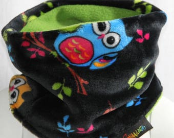 SNOOD FLEECE OWL 3 CHILD SIZES 2/3 YEARS, 4/6 AND 8/12 YEARS