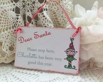 Personalised Wooden Plaque - Dear Santa i've been good