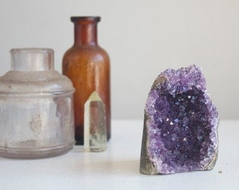 Small Amethyst Geode Cluster, 2 inches tall, Dark Purple Amethyst, Boho Crystal Home Decor, Display Crystal, Desk Accessory, Druzy Decor