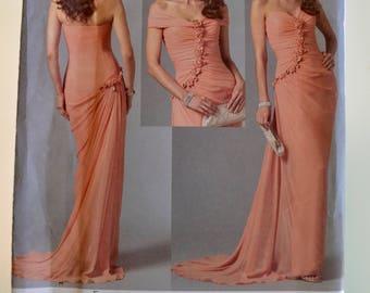 Vogue V2890 Bellville Sassoon Misses Dress and Detachable Shrug Sewing Pattern Size 14-16 UNCUT