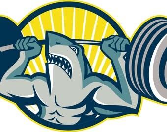 Shark3-Gift Tag-Gift Card-Jewelry-Background-T-Shirt-Digital Clipart-Website-Banner-Notebook-Scrapbook.