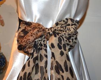 Bow cinch belt ,Wide elastic stretch corset belt, cinch belt with big bow, Black belt, leopard belt,brown