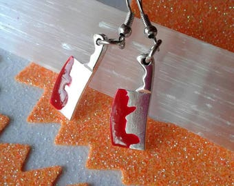 Meat Cleaver Earrings,Knife