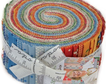 """Spring A Ling Jelly Roll by American Jane for Moda Fabrics 21710JR 40 2.5"""" x 42"""" Fabric Strips"""