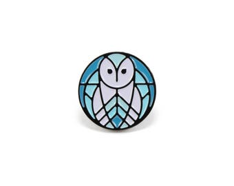 "Barn Owl Soft Enamel Pin - 3/4"" Limited Edition of 100"