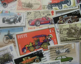 30 Car postage stamps, Vintage stamps, Postage Stamps, Antique Stamps, Antique Cars, Race Cars