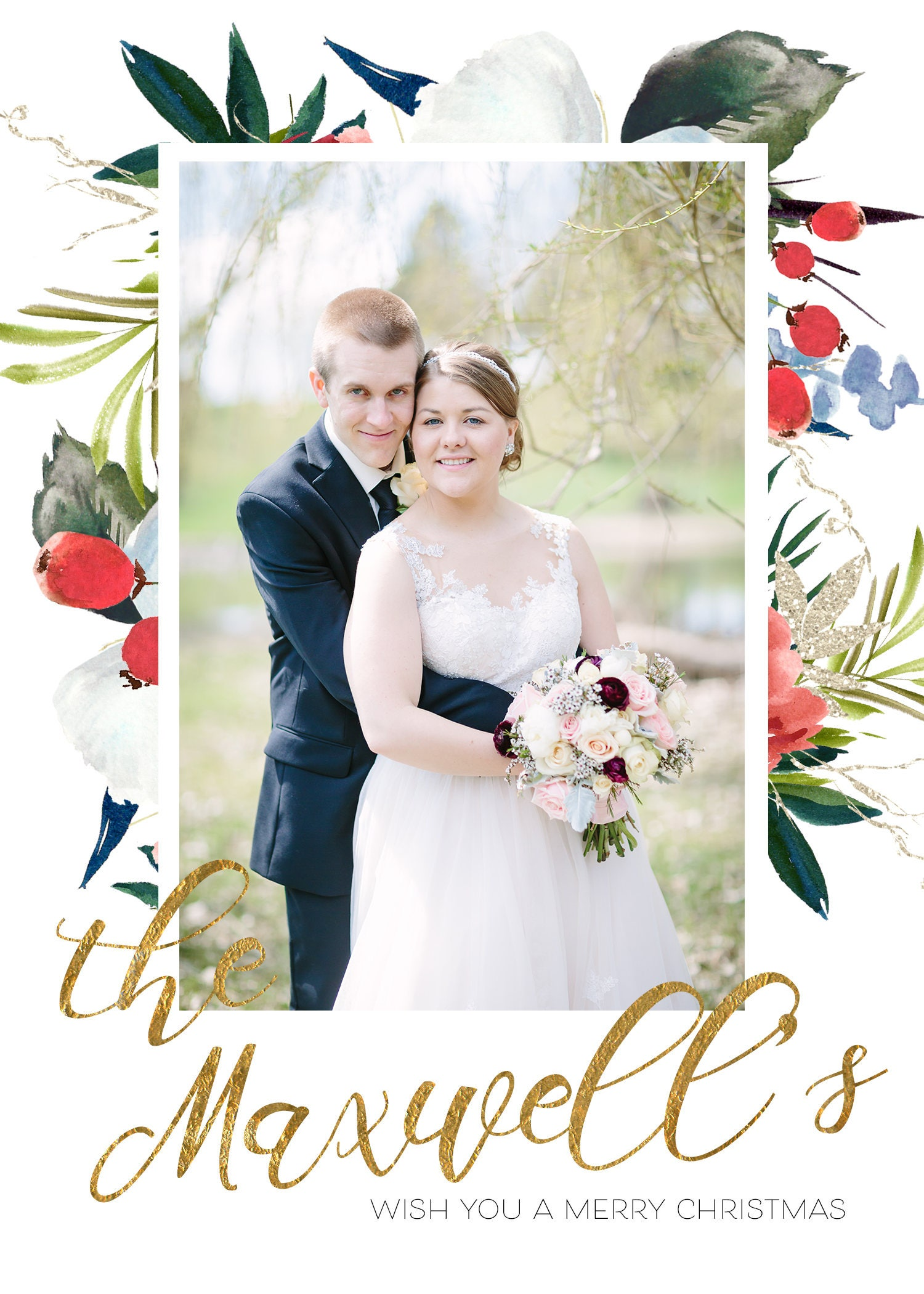 Christmas Cards for the Newlyweds ・ Just Married Christmas Cards ...