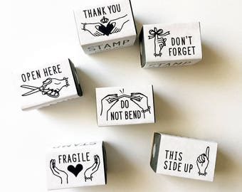 New- KNOOP Original Rubber Stamps - Messages for art mailing, journaling, techo planner deco, packaging, card making