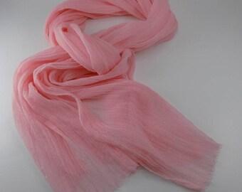 Handmade Silk Scarf --- Pink