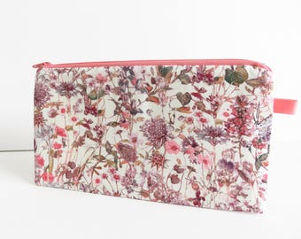 Liberty Lawn 'Wild Flowers F' zippered pencil case