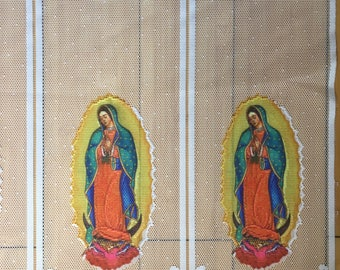 Lady Guadalupe Virgen Fabric Decoration Curtain Transparent Lace Gauze Banner Flag Panels