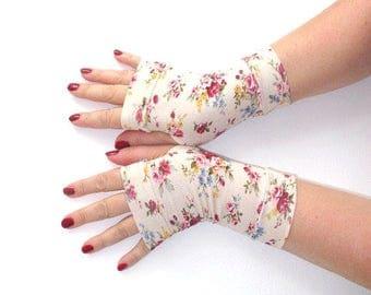 Fingerless  gloves short summer cotton with pattern