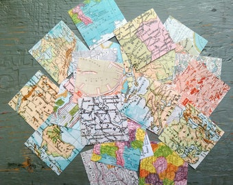 Map stickers etsy 25 world map stickers 15 or 2 squares travel stickers vintage gumiabroncs Images