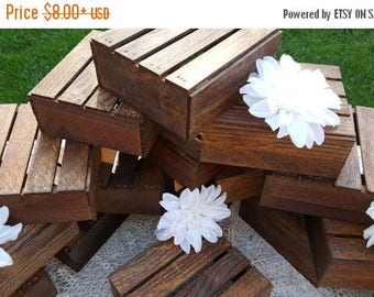 PICK ME SALE Wood Crates  ,wedding table centerpiece , Rustic Home Decor , wedding reception , wedding decorations , country wedding , table