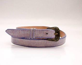Buckle Belt, Womens Belts, Purple Belt, Art Leather, Fashion Belts,  Leather Belt, Leather for Her, Unique Leather, Women's Accessories Belt