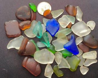 Sea Glass or Beach Glass of HAWAII!  50! COBALT! SALE!  Bulk Sea Glass! Bulk Sea Glass! Sea Glass Bulk! Mosaic Tiles! Seaglass!