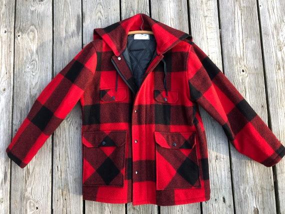 buffalo plaid Johnson Woolen Mills field jacket, size 46