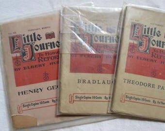3 Elbert Hubbard Little Journeys Roycrafters Theodore Parker Bradlaugh George