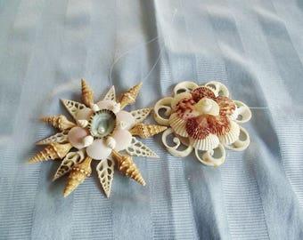 Seashell Ornaments, each, Cut Seashells, Window Ornaments, Christmas Ornaments, Tree Ornaments