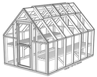 8' x 12' Greenhouse Plans - PDF Version
