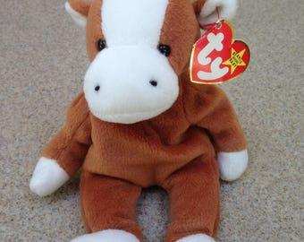 Vintage 1995 Ty Bessie the Cow Beanie Baby